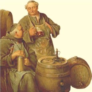 Frati che bevono birra