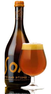 La birra artigianale glu glu del birrificio SorA'laMA'
