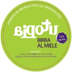 La birra artigianale Utopia del birrificio Troll