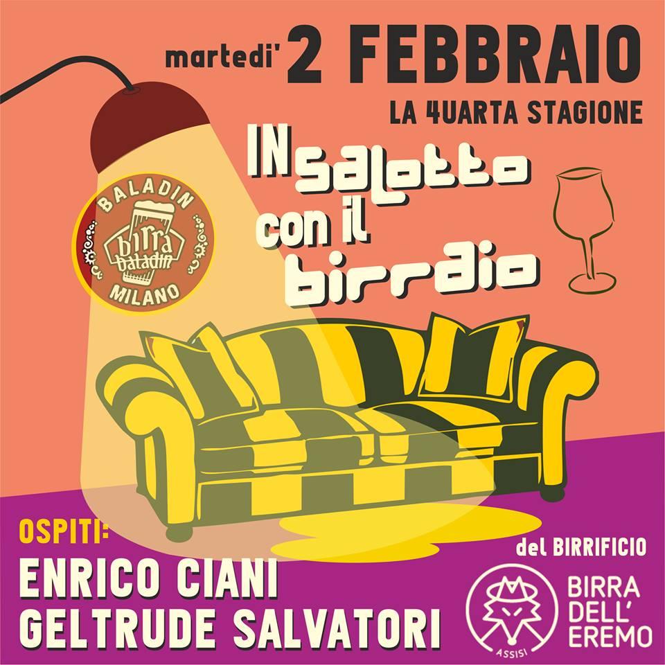 birraio in salotto febbraio Baladin Milano