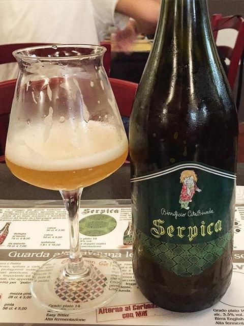 La birra artigianale Serpica del birrificio CitaBiunda