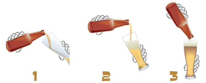 come versare la birra